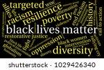 black lives matter word cloud... | Shutterstock .eps vector #1029426340