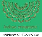 indian ornament stencil | Shutterstock .eps vector #1029427450