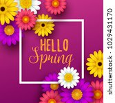 colorful spring background with ... | Shutterstock .eps vector #1029431170