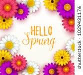 colorful spring background with ... | Shutterstock .eps vector #1029431176