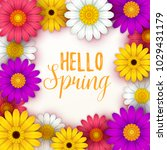 colorful spring background with ... | Shutterstock .eps vector #1029431179