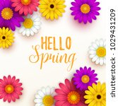 colorful spring background with ... | Shutterstock .eps vector #1029431209