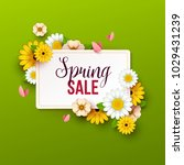 spring sale background with... | Shutterstock .eps vector #1029431239