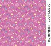 cute seamless floral pattern.... | Shutterstock .eps vector #1029433330