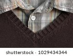 suit close up. sweater and... | Shutterstock . vector #1029434344