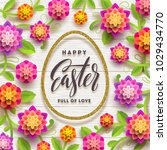 easter greeting card. easter... | Shutterstock .eps vector #1029434770