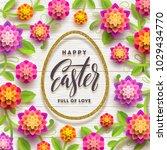 easter greeting card. easter...   Shutterstock .eps vector #1029434770