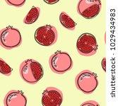 grenades seamless pattern.... | Shutterstock .eps vector #1029434983