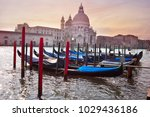 gondolas on the canal in venice ... | Shutterstock . vector #1029436186