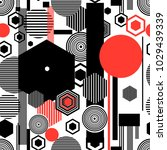 seamless beautiful geometric... | Shutterstock .eps vector #1029439339