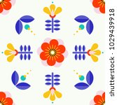 beautiful floral pattern in... | Shutterstock .eps vector #1029439918