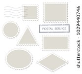 blank postage stamps different... | Shutterstock .eps vector #1029440746