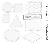 blank postage stamps different... | Shutterstock .eps vector #1029442150