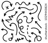 vector hand drawn arrows set.... | Shutterstock .eps vector #1029443824