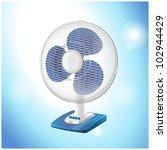 table fan   vector illustration | Shutterstock .eps vector #102944429