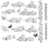 set of ornamental design... | Shutterstock .eps vector #1029445810