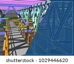 3d project of reconstruction... | Shutterstock . vector #1029446620