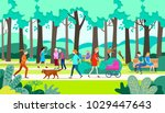 walk in the park.vector... | Shutterstock .eps vector #1029447643