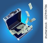 case with dollars money concept ... | Shutterstock .eps vector #102944786
