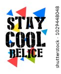 belice stay cool t shirt print... | Shutterstock .eps vector #1029448048