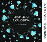customizable diamond gem light... | Shutterstock .eps vector #1029449170