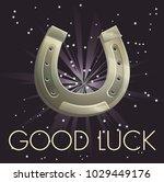 lucky charm horseshoe... | Shutterstock .eps vector #1029449176