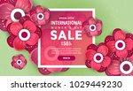 international women's day... | Shutterstock .eps vector #1029449230