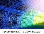 light arch the rainbow color... | Shutterstock . vector #1029450130