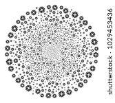 cogwheel exploding circle.... | Shutterstock .eps vector #1029453436