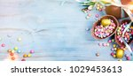 spring easter background  | Shutterstock . vector #1029453613