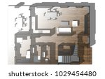 house plan architectural... | Shutterstock . vector #1029454480