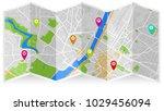 map city gps | Shutterstock .eps vector #1029456094