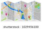 map city gps   Shutterstock .eps vector #1029456100