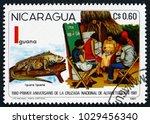 nicaragua   circa 1981  a stamp ... | Shutterstock . vector #1029456340
