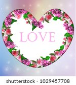valentines day heart with... | Shutterstock .eps vector #1029457708