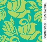vector seamless floral pattern... | Shutterstock .eps vector #1029460408