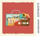 retro music design | Shutterstock .eps vector #1029460573