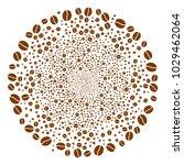 coffee bean burst circle.... | Shutterstock .eps vector #1029462064