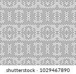 seamless monochrome retro...   Shutterstock .eps vector #1029467890
