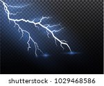 a set of lightning magic and...   Shutterstock .eps vector #1029468586