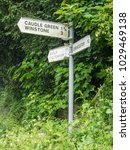 Small photo of Signpost at Caudle Green