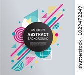 abstract circle badge geometric ... | Shutterstock .eps vector #1029472249