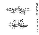 saint petersburg sights... | Shutterstock .eps vector #1029472549
