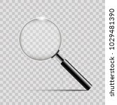 realistic silver magnifier on... | Shutterstock .eps vector #1029481390