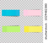 vector colorful sticky notes ... | Shutterstock .eps vector #1029482380