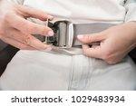 closeup on woman hands... | Shutterstock . vector #1029483934