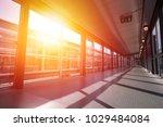 passageway at transport... | Shutterstock . vector #1029484084