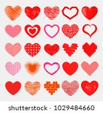 red hearts sharp simple red... | Shutterstock .eps vector #1029484660