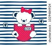 cute teddy bear in the pocket...   Shutterstock .eps vector #1029484924