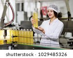 line of food production of... | Shutterstock . vector #1029485326
